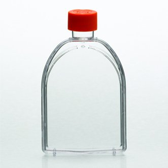 - Corning 430641U U-Shaped Canted Neck Cell Culture Flask with Vent Cap, Sterile, 75cm² Capacity (Pack of 100)