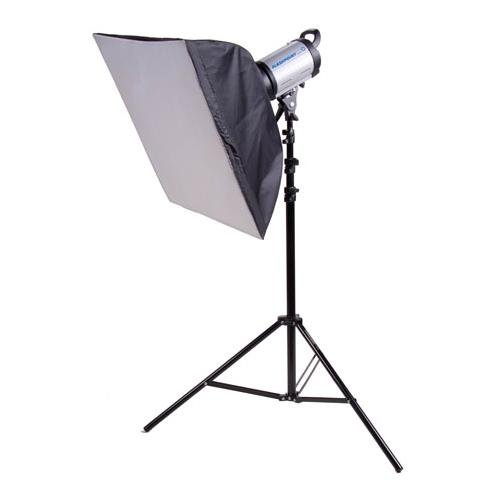 Flashpoint 320 Monolight Kit, 150 Watt Second, One Monolight Kit with Black Light Stand and 24x24 (Pro Flashtube)