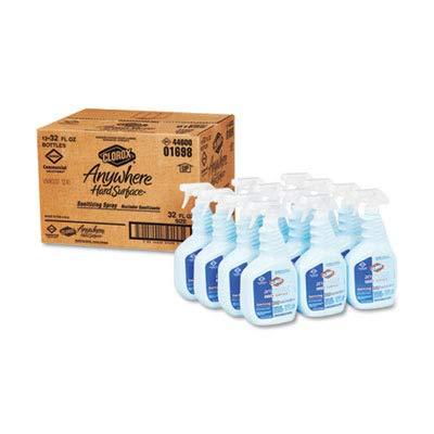 Clorox 01698CT Anywhere Sanitizing Spray, EPA-Approved, 32 oz Bottle, 12/Carton