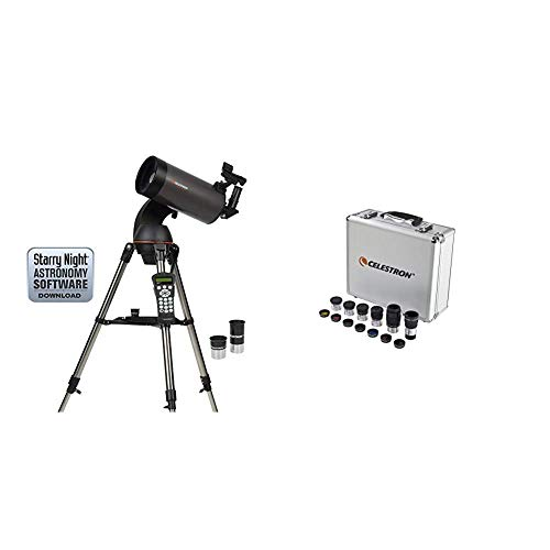 Celestron NexStar 127SLT Mak Computerized Telescope (Black) & Eyepiece and Filter Kit – 14 Piece Telescope Accessory Set