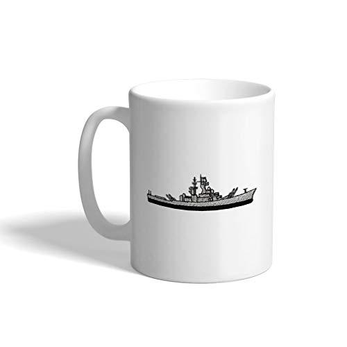 - Ceramic Funny Coffee Mug Coffee Cup Navy Ship Missile Cruiser White Tea Cup 11 Ounces