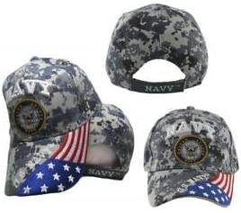 U.S Navy OFFICIALLY LICENSED Embroidered With Seal /& Flag Baseball Cap Hat