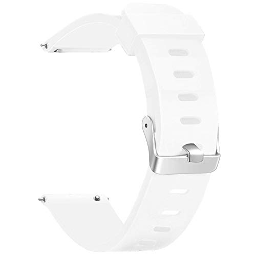 Watch Band, Quick Release Silicone Vetoo Watch Bands - 20mm, White - Normal -