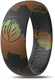 MAUI RINGS Men's Silicone Wedding Rings Breathable Comfortable Attractive Rubber Band Safe for Sports Work Fit
