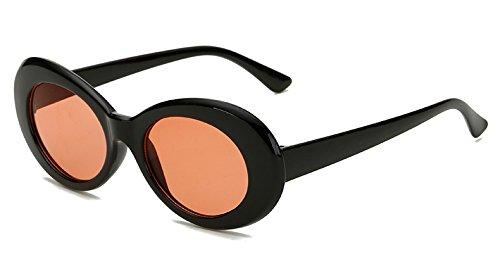 black TIANLIANG04 Sol De with Sol red Oval Del De Gafas Hombres Plástico Uv400 Negro Negro wqwAR7x1