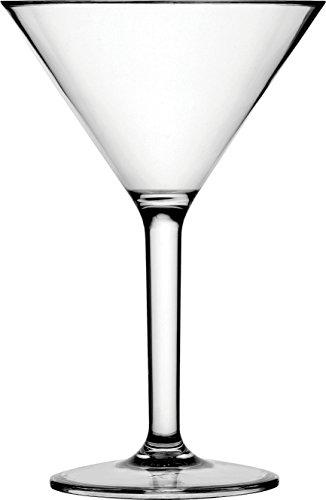 Circleware Martini Wine Glasses, Set of 4, 10 Ounce (Glass Polycarbonate Martini)
