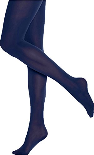 Hue Women's Opaque Tights Non Control Top 3 Blue ()