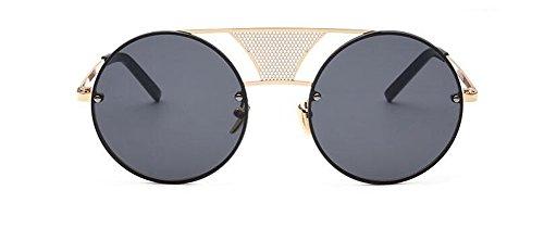 vintage de métallique soleil rond polarisées inspirées cercle retro style du en lunettes Noir Lennon Film BH0wqB