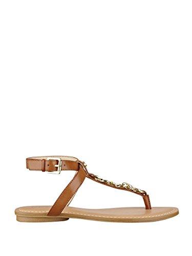 GUESS Womens Gurri T Strap Sandals