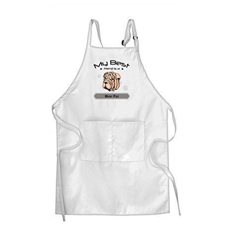 SHAR PEI DOG My Best Friend is Adjustable Bib Kitchen Apron Starfactr