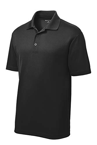 Men's Custom Golf Shirt. Custom Embroidered Polo Shirt/Golf Shirt (M, Black - Blank ()