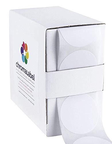 ChromaLabel 1-1/2 inch Color-Code Dot Labels | 500/Dispenser Box (White)