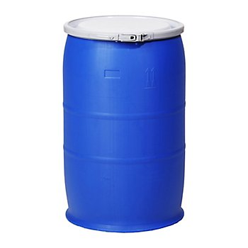 New Pig DRM1060 Straight-Sided Open-Head UN Rated HDPE Drum, 30 Gallon Capacity, 19-1/2'' Diameter x 30'' Height, Blue