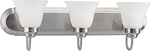 HomeStyle HS27009-09 Three Light Bath Bracket (CFL) in Brushed Nickel