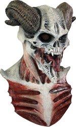 [Devil Skull Mask Adult Accessory] (Latex Devil Mask)