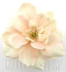 Light Pink Apple Blossom Silk Hair Comb