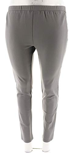Halston Ponte Knit Pull-On Leggings Leather Tuxedo for sale  Delivered anywhere in USA