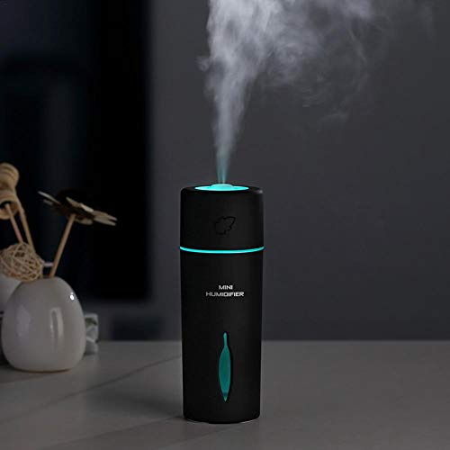 (Ya-tube Portable USB Air Humidifiers,Innovative Leaf Mute Mini Humidifier LED Colorful Lights for Cars Office Desk Home Bedroom)