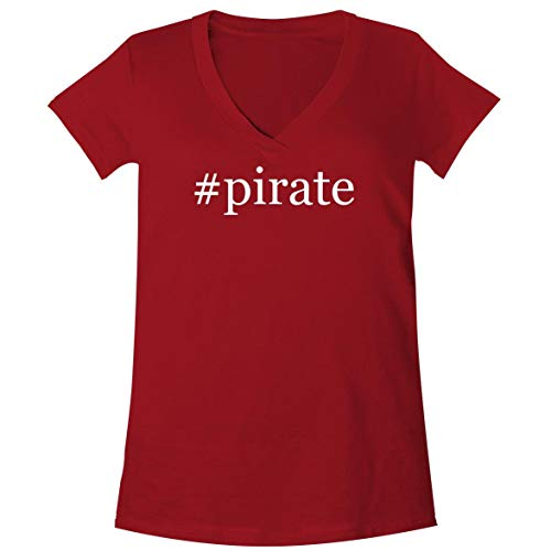 #Pirate - A Soft & Comfortable Women's V-Neck T-Shirt, Red, XX-Large ()