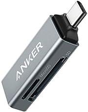 Anker 2-in-1 USB-C geheugenkaartlezer voor SDXC, SDHC, SD, MMC, RS-MMC, micro-SDXC, micro-SD, micro-SDHC en UHS-I kaarten