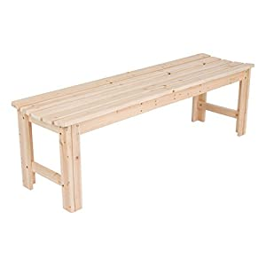 Shine Company 5 Ft. Backless Garden Bench, Natural