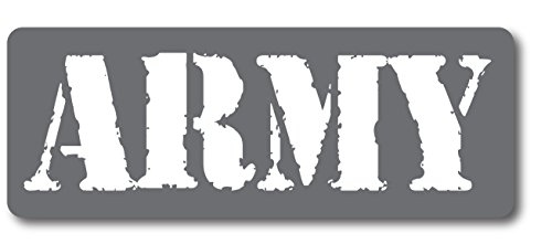 Grey Army Magnet Decal Perfect for Car or Truck - 3x8