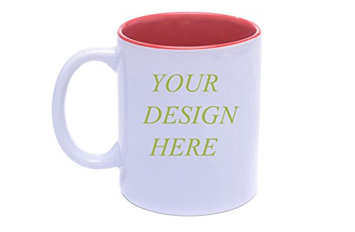 Diy Personalized Coffee Mug Add pictures, logo, or text to Custom Mugs Cups For Gift (Claret White)