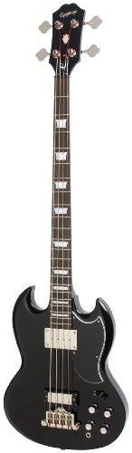 Epiphone EB-3 Two Pickup Electric Bass Guitar, Ebony