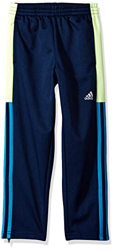 adidas Boys' Toddler Tapered Trainer Pant, Striker Navy/Yellow, 3T