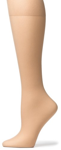 Knee Sheer Nylon Socks High - No Nonsense Women's Knee High Pantyhose with Sheer Toe, 10 Pair Value Pack, Nude, One Size