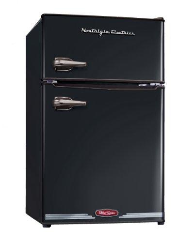 082677266002 - Nostalgia RRF325HNBLK Retro Series 3.0-Cubic Foot Compact Refrigerator Freezer carousel main 0