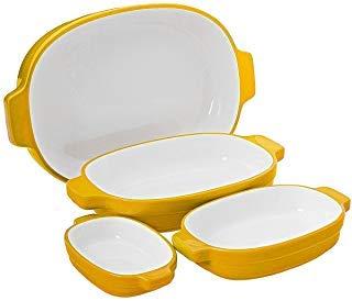KitchenAid 4pc Ceramic Nesting Casserole Dishes Baking Set Cooking Pans Handles