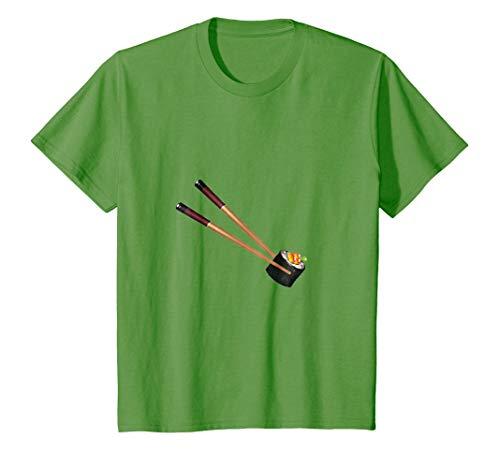 Kids Sushi & Chopsticks t-shirt Sushi Lover Sushi Roll 6 Grass