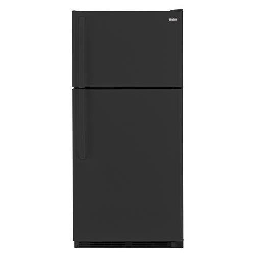 Haier HRT18RCWB 30'' Wire Shelves Top Mount Refrigerator with 18.1 cu. ft. Capacity Dual Knob Mechanical Control Clear Fresh Food Crisper in by Haier