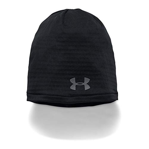 Under Armour Winter Beanie - Under Armour Outerwear Unisex Under Armour Men's Fish Hunter Solid Long Sleeve, Black (001)/Stealth Gray, One Size Fits All