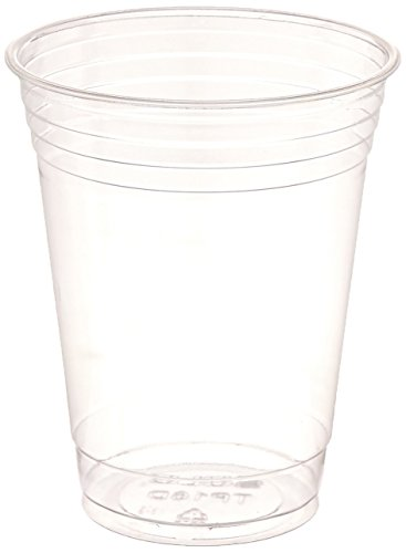 Clear Disposable Cups - SOLO Cup Company Plastic Party Cold Cups, 16 oz, Clear, 100 pack