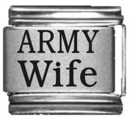 Army Wife Laser Italian Charm