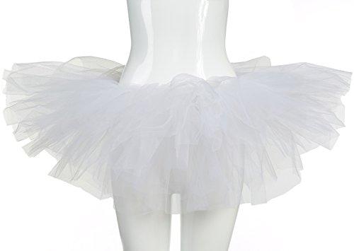 belababy White Women's Tutu Skirt Halloween Costume
