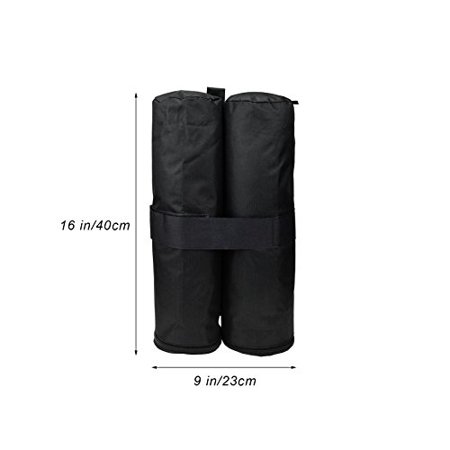 NKTM Set of 4 Weight Bags for Pop up Canopy Outdoor Shelter,Heavy duty Instant Leg Canopy Weights Sand Bags