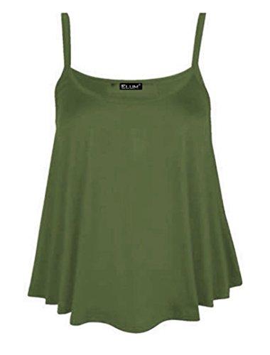 Elum® - Camiseta sin mangas - para mujer caqui