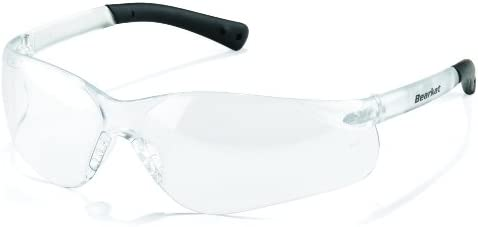 Crews BK310 BearKat 3 Polycarbonate Clear Lens Safety Glasses with Non-Slip Hybrid Black Temple Slee