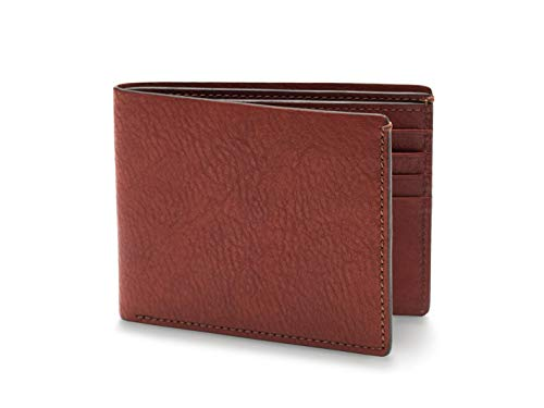 (Bosca Men's 8 Pocket Deluxe Executive Leather Wallet In Dark Brown )