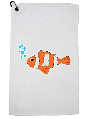 - Hollywood Thread Clown Fish - Funny from Sydney - Loves Jokes Golf Towel with Carabiner Clip