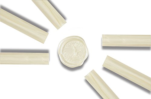 - Glue Gun Sealing Wax-White Pearl-Pack of 6