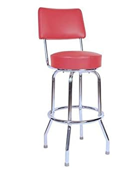 1957 Inspired Floridian Swivel Counter Stool – Red