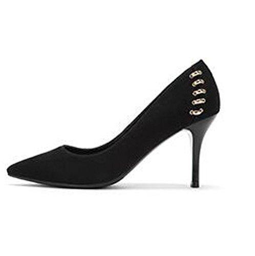 da UK EU Tacchi Alti Lavoro 3 Scarpe WeddingDaphne Nero Sexy Shoes 8 Donna Party Black 5cm Moda 35 Lavoro da Nightclub HTYSxq