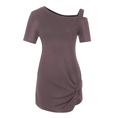 Zackate_Women Sweatshirts Women's Short Sleeve Casual Cold Shoulder Tunic Tops Loose Blouse Shirts by Zackate_Women Sweatshirts (Image #3)