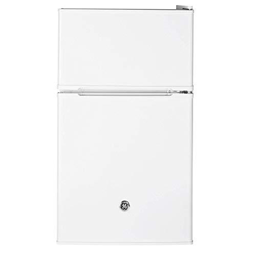 GE Appliances 3.1 Cubic Foot Freestanding Double Door Compact Refrigerator, White