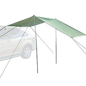 Ishine Toldo de coche, kit de toldo para coche, tienda de campaña portátil, toldo impermeable para la azotea del automóvil, refugio solar, tienda de remolque, tiendas de techo para vehículos