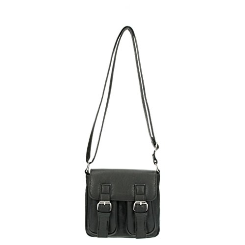 Beagles Bolso negro con hebillas 15803 - 001 bolsa bandolera complementos